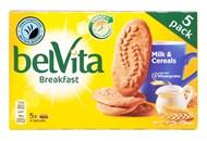 Печиво Belvita Сніданок мультизлакове з молоком 45г*5шт 225г
