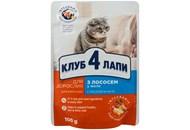 Корм для котів Club 4 Paws Преміум з лососем консерв 100г