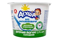 Йогурт Агуша солодкий для дітей від 8 місяців 2,9% 90г