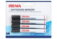Маркери для дошки Sigma чорні 4шт