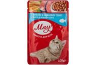 Корм для котів Мяу з рибою в ніжному соусі 100г