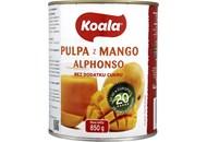 Пюре Koala Alphonso з манго пастеризоване без цукру 850г