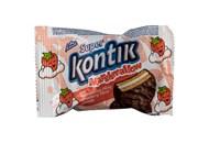 Печиво маршмеллоу зі смаком полуниці Super Kontik Кonti му 30г