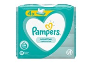 Cерветки вологі Pampers Sensitive дитячі 4*52шт