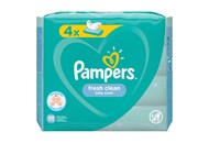 Cерветки вологі Pampers Fresh сlean дитячі 4*52шт