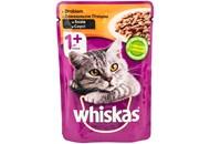Корм вологий для дорослих котів з домашньою птицею в соусі Whiskas дп 100г