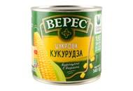 Кукурудза Верес цукрова консервована з цілих зерен 340г