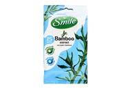 Серветки вологі Smile Bamboo з екстрактом бамбука 15шт/уп