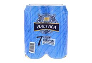 Пиво Baltika Експортне №7 світле пастеризов 5,4% 0,5л*4шт 2л