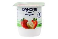 Йогурт Danone Полуниця-банан натуральний 2% 135г