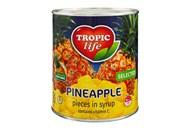 Ананас Tropic Life шматочками у сиропі 820г