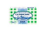 Масло Селянське солодковершкове бутербродне 63,0% 200г