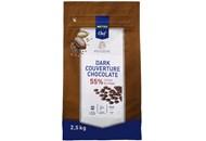 Краплі з темного шоколаду кувертюр Metro Chef 55% 2,5 кг
