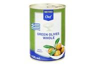 Оливки Metro Chef зелені з кісточкою великі 420г