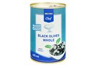 Оливки Fine Food чорні з кісточкою великі 420г