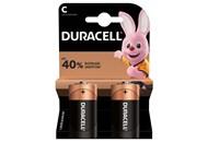 Елемент живлення Duracell лужний C 1.5V 2шт